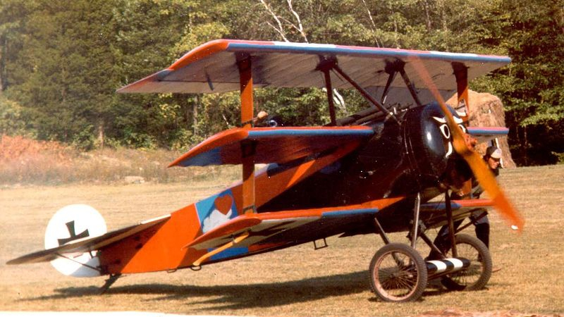 The most-flown reproduction of a rotary engine-powered Fokker Dr.I known to exist