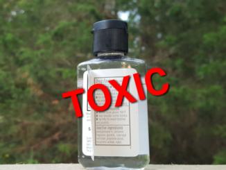 Toxic hand sanitizer.