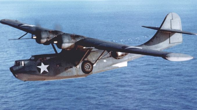 Consolidated PBY-5A Catalina, circa 1940. US Navy photo, public domain.