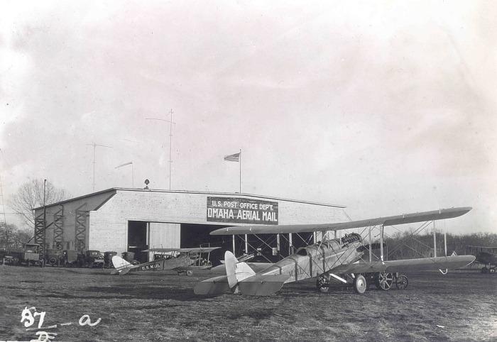 Airmail planes at Omaha, Nebraska, 1920.