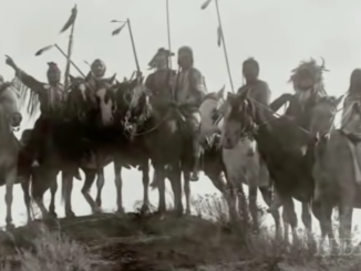 Warriors on horseback.