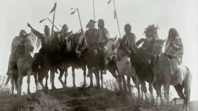Warriors on horseback.