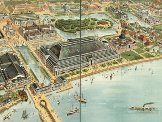 Bird's eye view of the World's Columbian Exposition, Chicago, 1893 (Jackson Park).