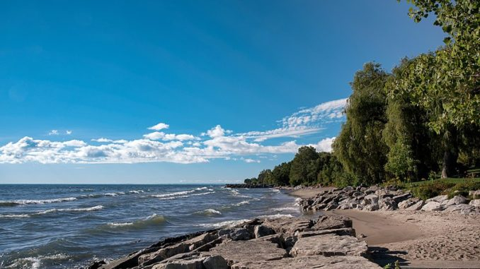 Lake Ontario shoreline.