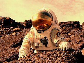 Artist's concept of an astronaut working on Mars. Image: NASA