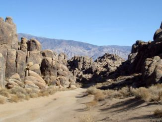 This narrow valley in the Alabama Hills doubled as the Khyber Pass in the 1939 epic Gunga Din.