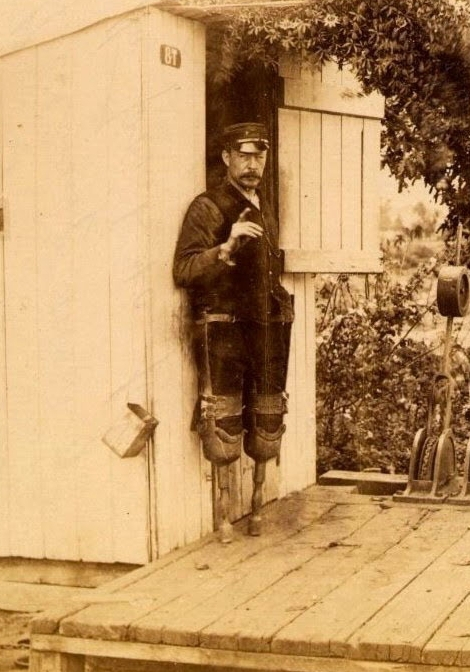 Switchman James Wide. Circa 1880s, public domain.