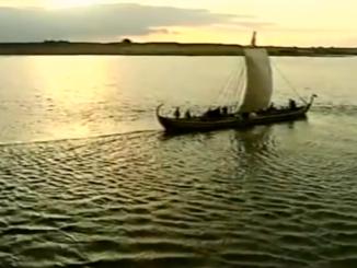 Viking longship.