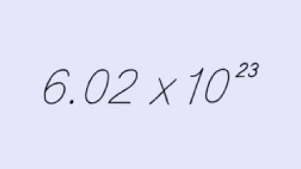 Avogadro's Number.
