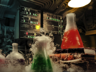 Mad scientist's laboratory.