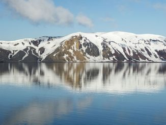 Telefon Bay, Deception Island, South Shetland Islands.