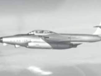 USAF Northrop F-89 Scorpion in flight.