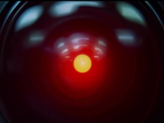 "The 'eye' of the HAL 9000 computer in a scene from the movie, ""2001: A Space Odyssey""."