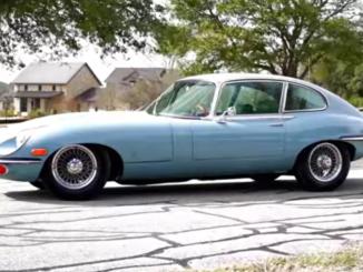 1968 Jaguar E-Type 2+2 coupé.