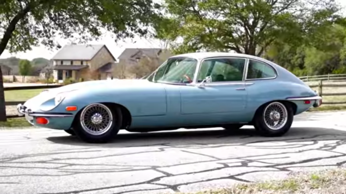 1968 Jaguar E-Type 2+2 coupé.