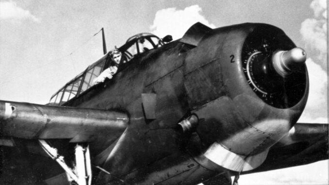 Navy Pilot George H. W. Bush in TBM Avenger, 1944.