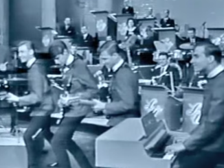 """The Chantays performing their hit """"Pipeline"""" on the Lawrence Welk Show, 1963."""