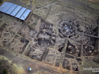 Aerial view of Göbekli Tepe excavation site.